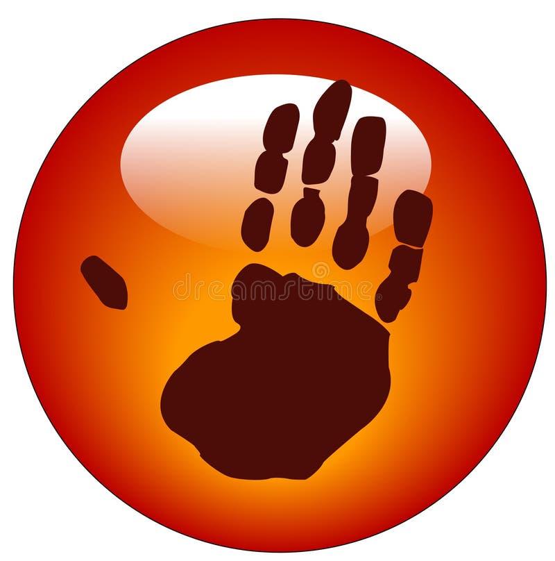 Tecla ou ícone do Web de Handprint ilustração do vetor