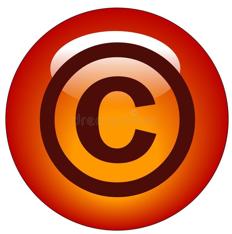 Tecla ou ícone dos direitos reservados ilustração stock