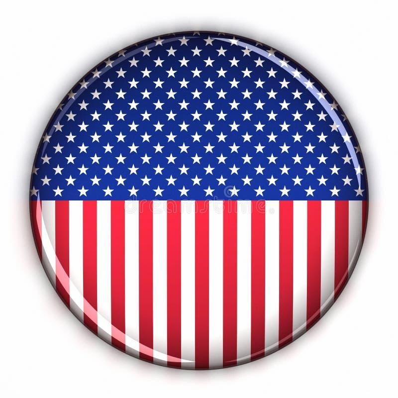 Tecla patriótica dos EUA ilustração stock