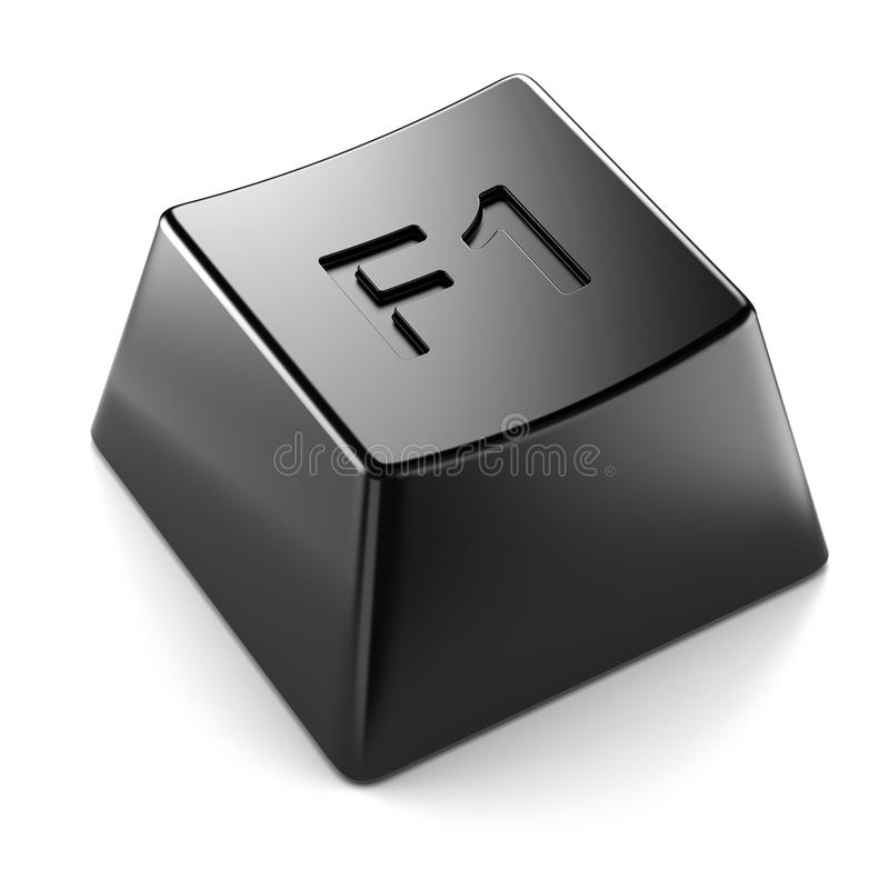 Tecla preta do teclado isolada ilustração royalty free