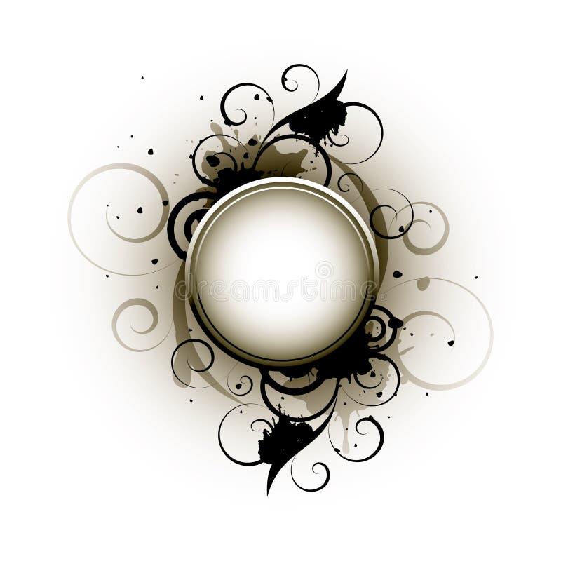 Tecla redonda abstrata ilustração do vetor