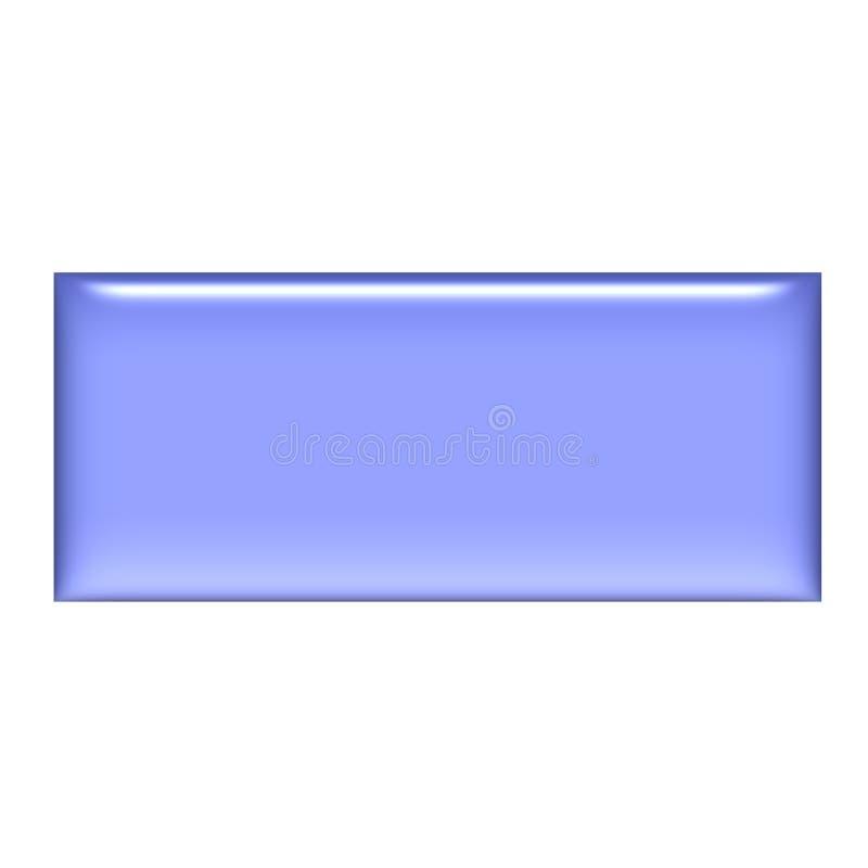 tecla roxa do quadrado do gel 3D ilustração stock