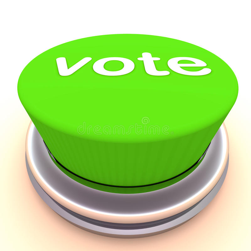 Tecla verde do voto ilustração royalty free