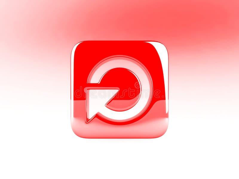 Tecla vermelha ilustração stock