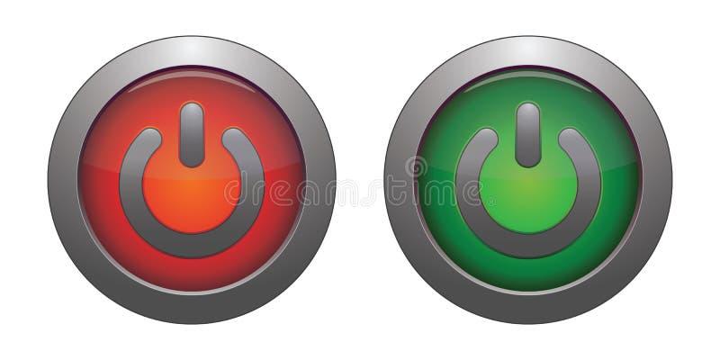 Tecla vermelha e verde ilustração royalty free