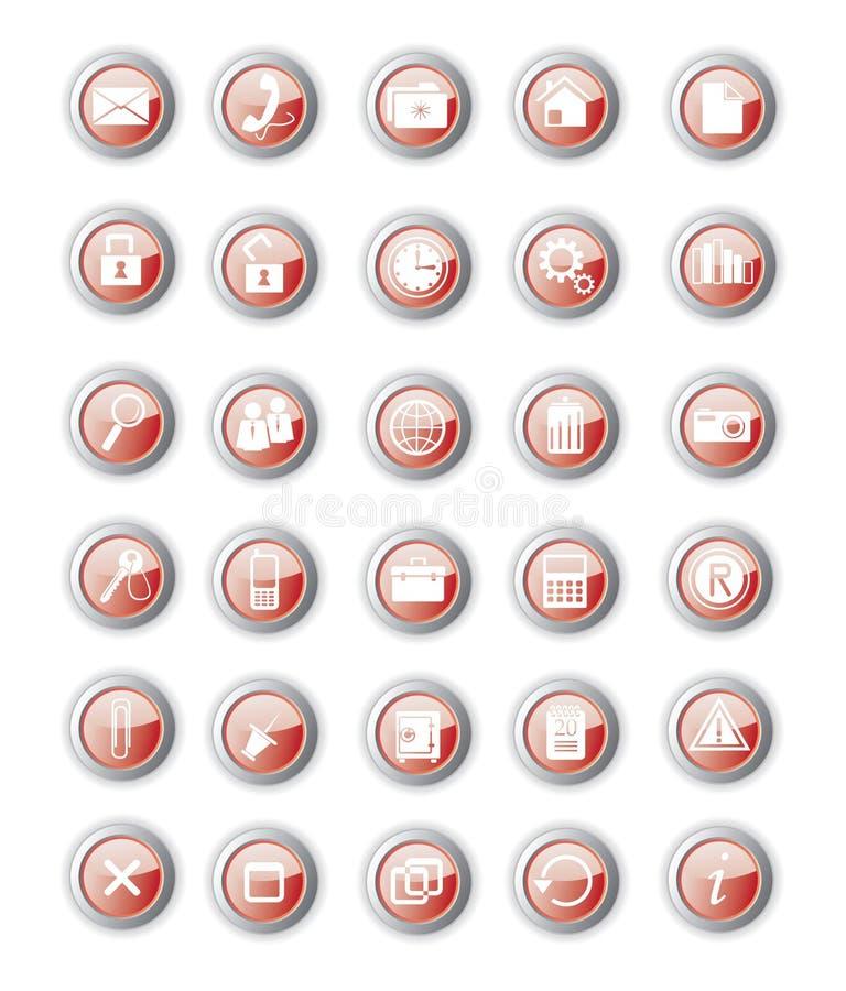 Tecla vermelha lustrosa ilustração do vetor