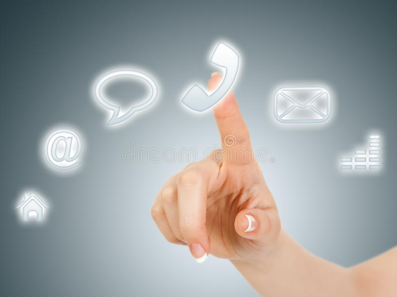 Tecla virtual do telefone imagem de stock royalty free