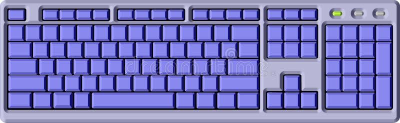 Teclado azul imagen de archivo