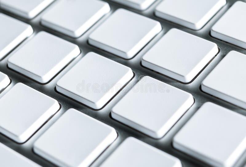 Teclado com chaves em branco imagens de stock