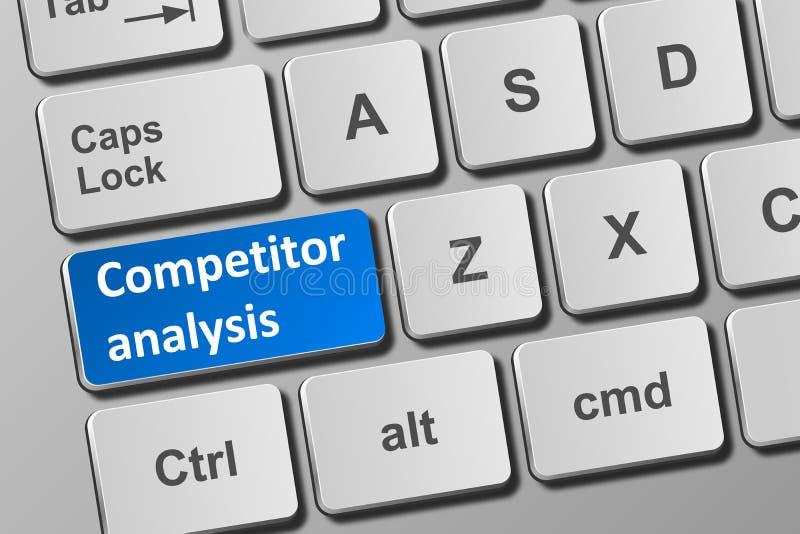 Teclado com o botão da análise do concorrente ilustração do vetor