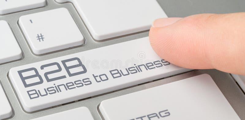 Teclado com um botão etiquetado - B2B imagem de stock