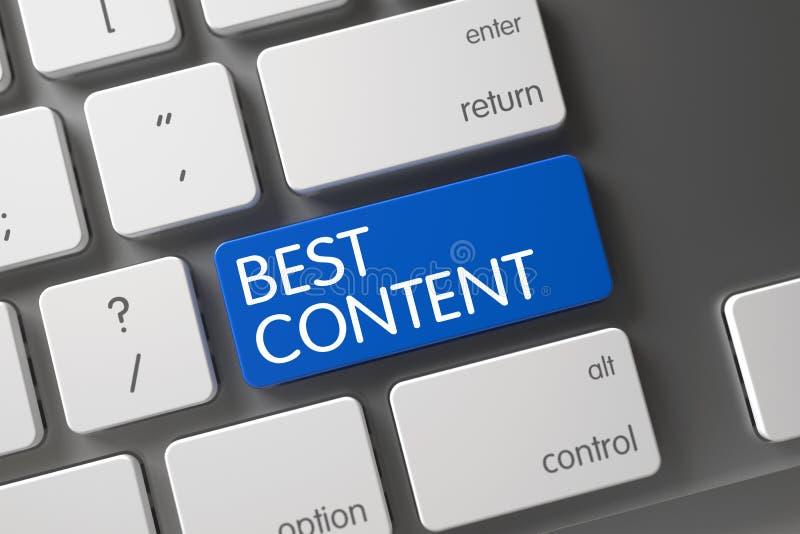 Teclado con el botón azul - el mejor contenido 3d imágenes de archivo libres de regalías