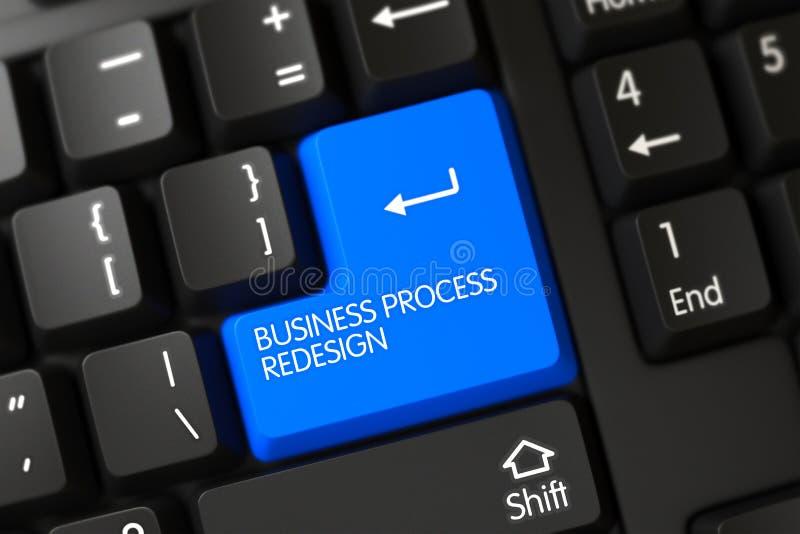 Teclado con el telclado numérico azul - reajuste del proceso de negocio 3d imagen de archivo libre de regalías
