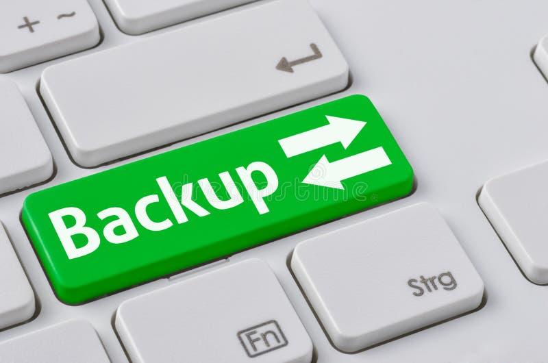 Teclado con un botón verde - copia de seguridad imagen de archivo libre de regalías
