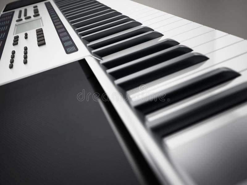 Teclado contemporâneo, genérico da música do projeto ilustração 3D ilustração stock