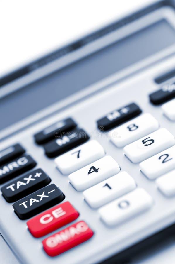 Teclado da calculadora do imposto foto de stock