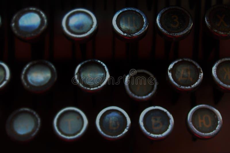 Teclado da máquina de escrever velha fotos de stock royalty free