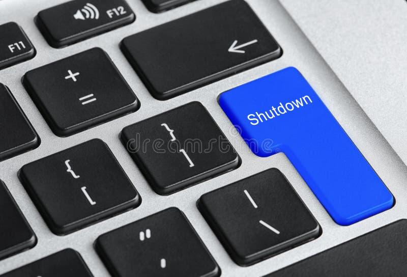 Teclado de computador com botão da PARADA PROGRAMADA foto de stock royalty free