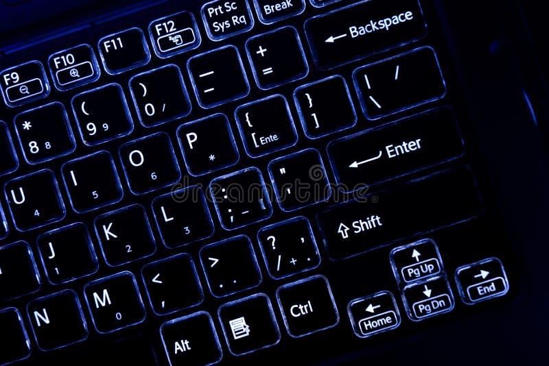 Teclado de computador do jogo, para o negócio e o lazer Teclado de computador — um dispositivo para incorporar a informação em um fotos de stock