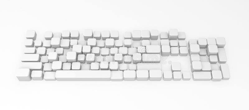 Teclado de computador, teclas ilustração do vetor