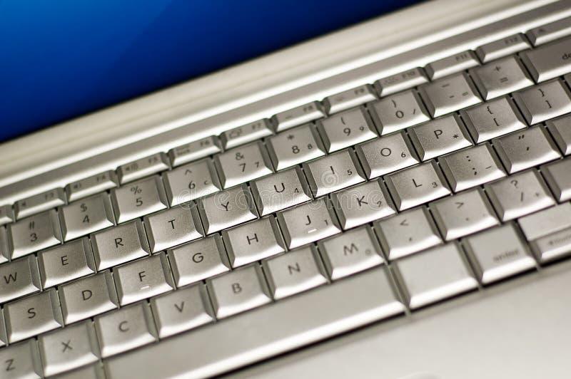 Teclado de la computadora portátil fotografía de archivo libre de regalías