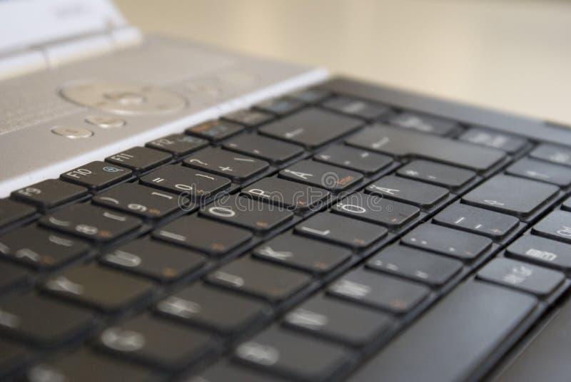Teclado de la computadora portátil imagenes de archivo