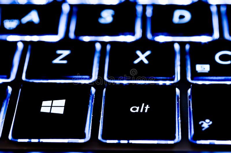 Teclado de Microsoft imagem de stock