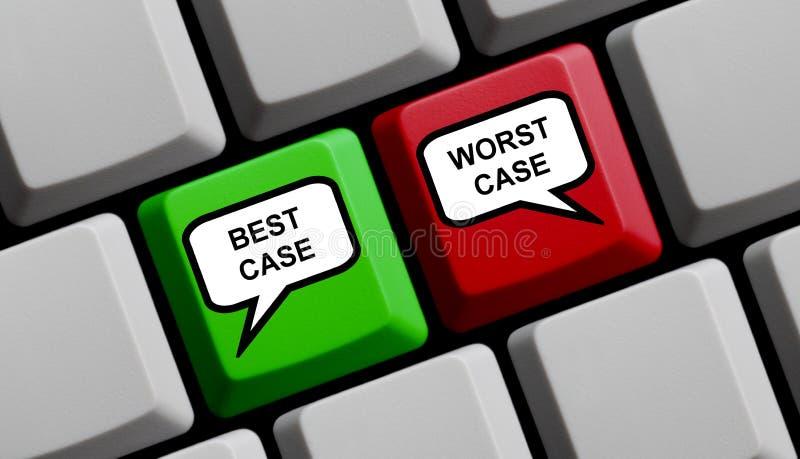 Teclado de ordenador: El mejores caso y peor caso ilustración del vector