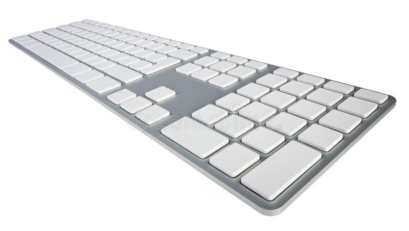 Teclado de ordenador en blanco fotografía de archivo