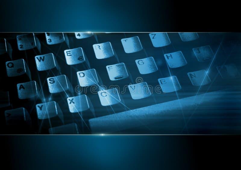 Teclado de ordenador en el azul 2 fotografía de archivo libre de regalías