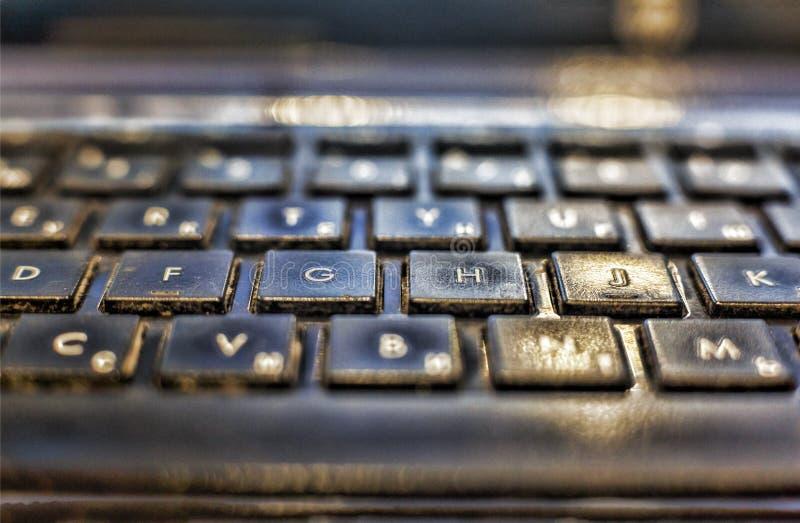 Teclado de ordenador, llaves del primer ordenador portátil para el bisness fotografía de archivo libre de regalías