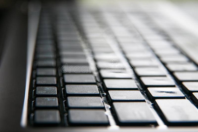 Teclado de ordenador portátil fotos de archivo libres de regalías