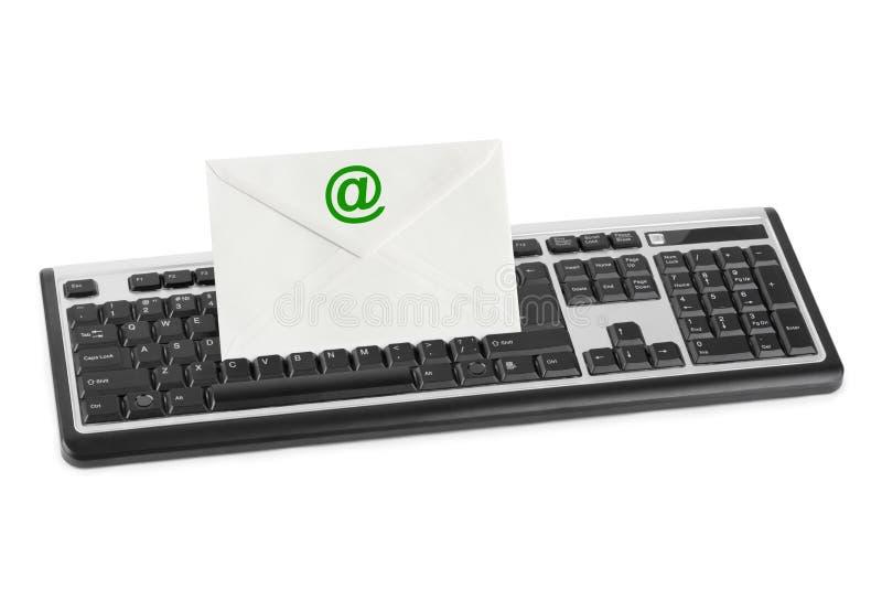 Teclado de ordenador y carta del email fotografía de archivo libre de regalías
