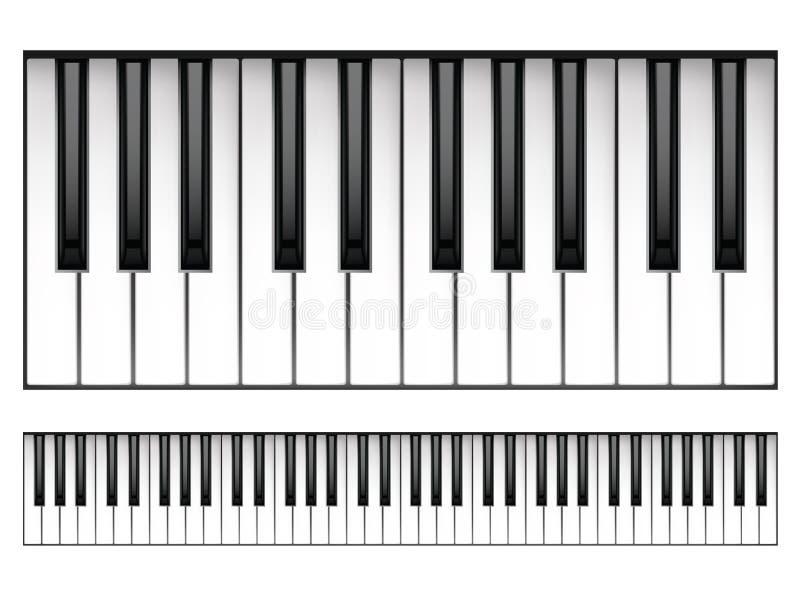 Teclado de piano ilustração stock