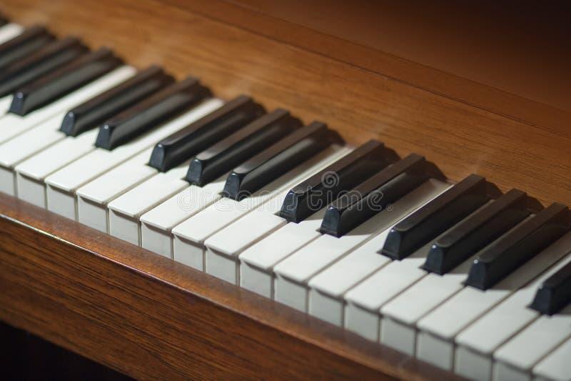 Teclado de piano fotos de archivo