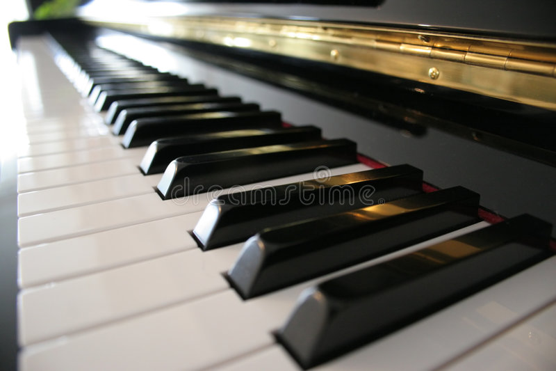 Teclado de piano imagem de stock