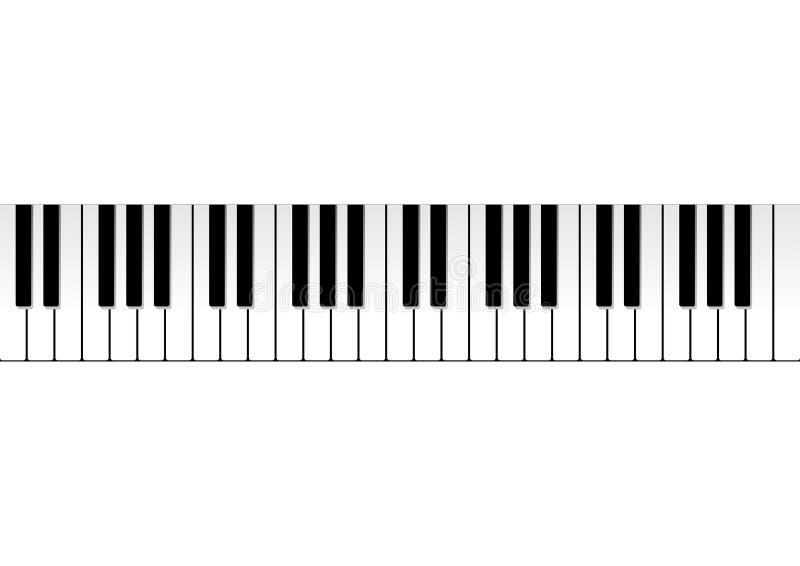 Teclado de piano ilustração do vetor