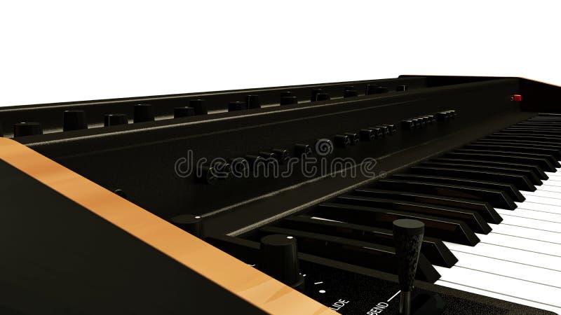 Teclado de piano bonde do vintage ilustração do vetor