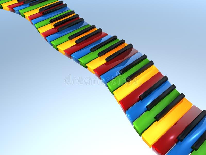 Teclado de piano da cor preliminar ilustração royalty free