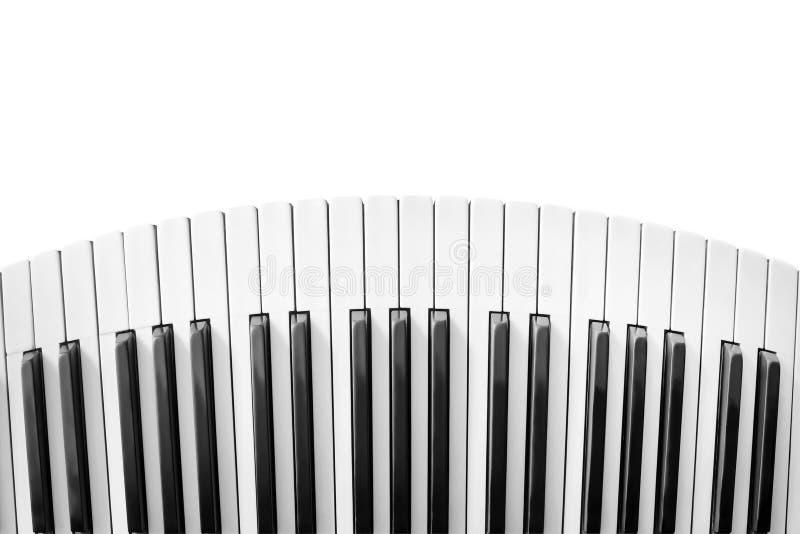 Teclado de piano distorcido imagem de stock royalty free