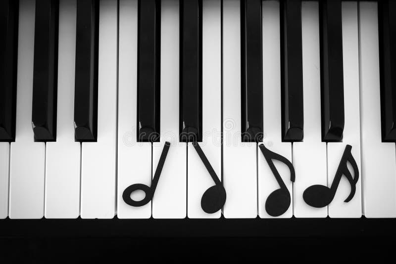Teclado de piano do close up imagem de stock