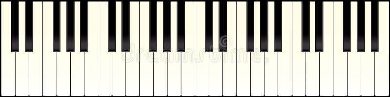 Teclado de piano largo stock de ilustración