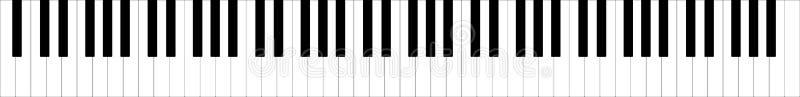 Teclado de piano lleno clásico ejemplo del vector de 88 llaves libre illustration