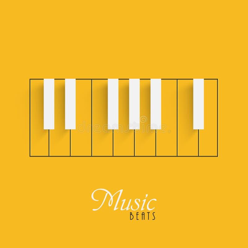 Teclado de piano para el concepto de la música libre illustration