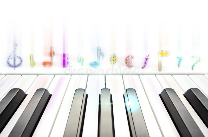 Teclado de piano para a música de composição imagem de stock