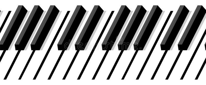 Teclado de piano sem emenda ilustração stock