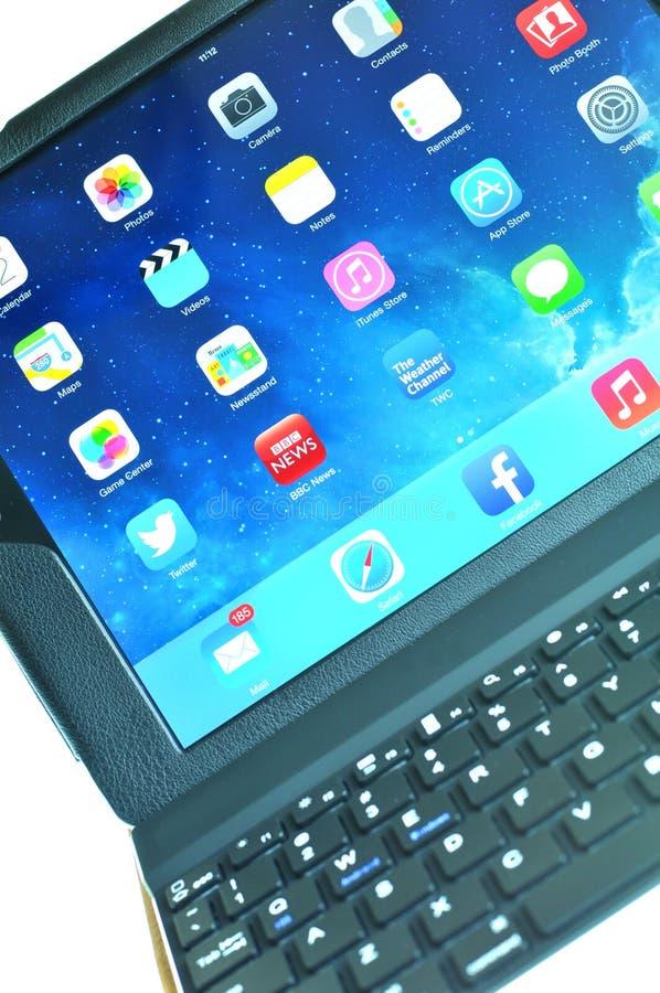 teclado del iPad fotos de archivo