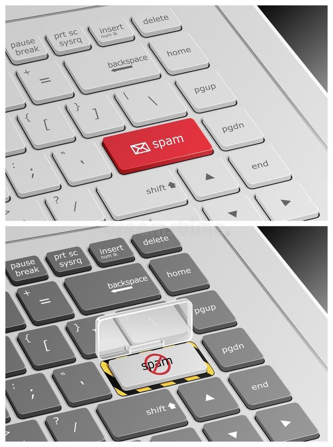 Teclado del ordenador portátil con los botones del pirata libre illustration