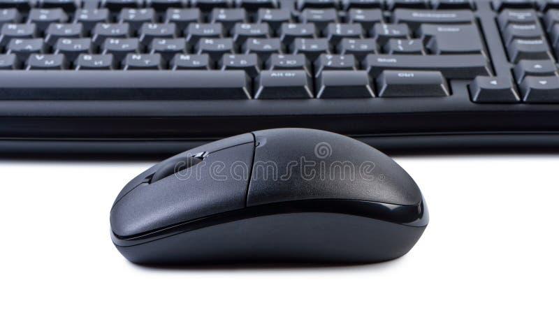 Teclado del ratón del ordenador en el fondo. imagen de archivo libre de regalías