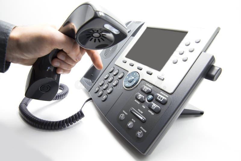 Teclado discado do telefone do IP foto de stock